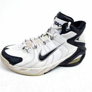 Nike Kids 3.5Y Shoes Baseball White Black High Top